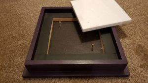Čmeláci PLUS - Střecha úlku s vyjmutou tepelnou izolací