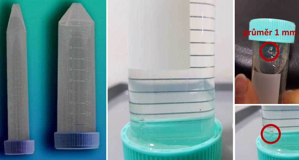 meláci PLUS - Krmítko z plastové zkumavky