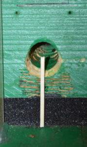 Značka na klapce pomocí dřívka