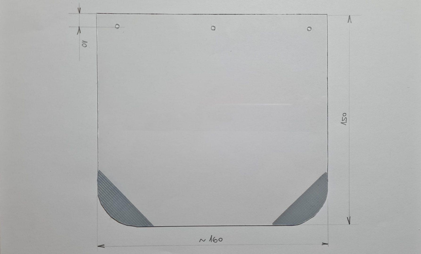 Čmeláci PLUS - Stříška z polykarbonátu - rozměry