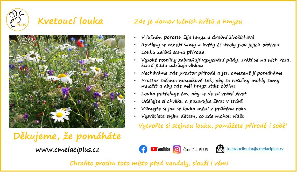 Čmeláci PLUS - Kvetoucí louka - Informační Leták