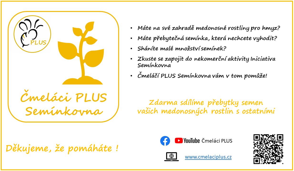 Čmeláci PLUS - Čmeláčí PLUS Semínkovna - Leták